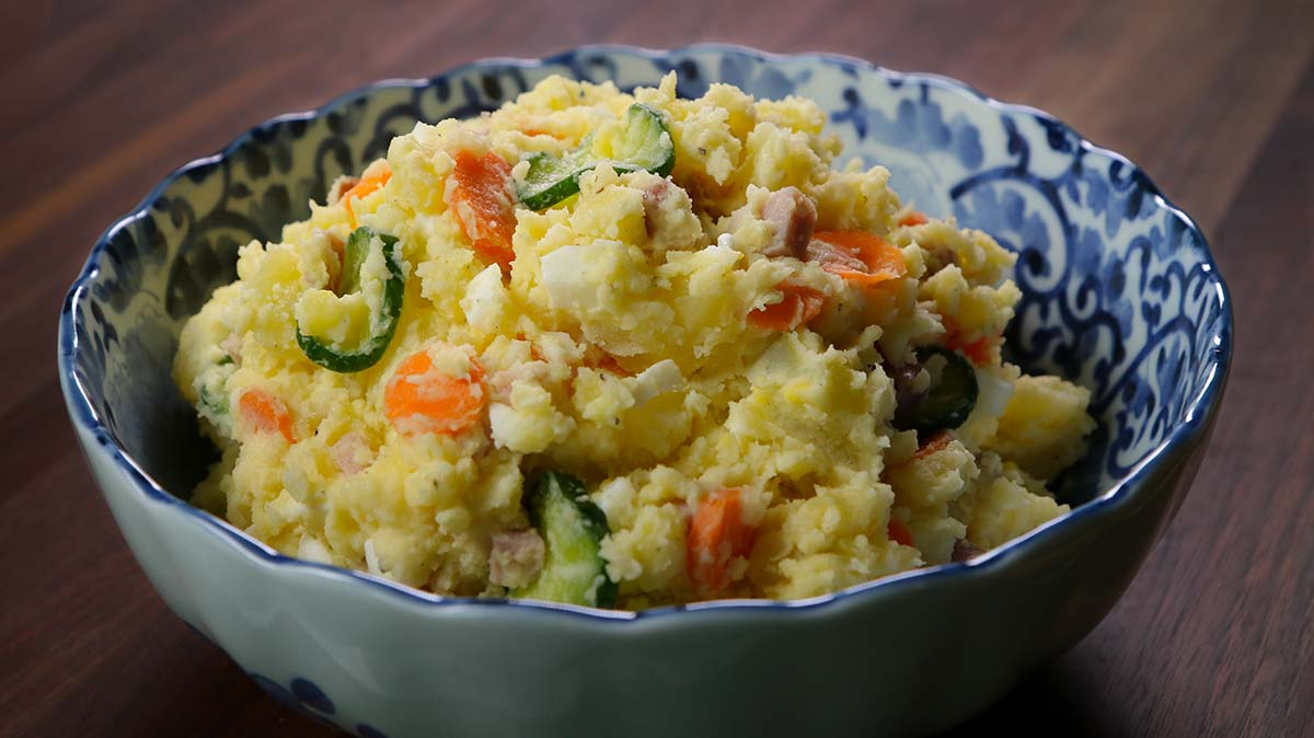 Korean Potato Salad Recipe & Video - Seonkyoung Longest