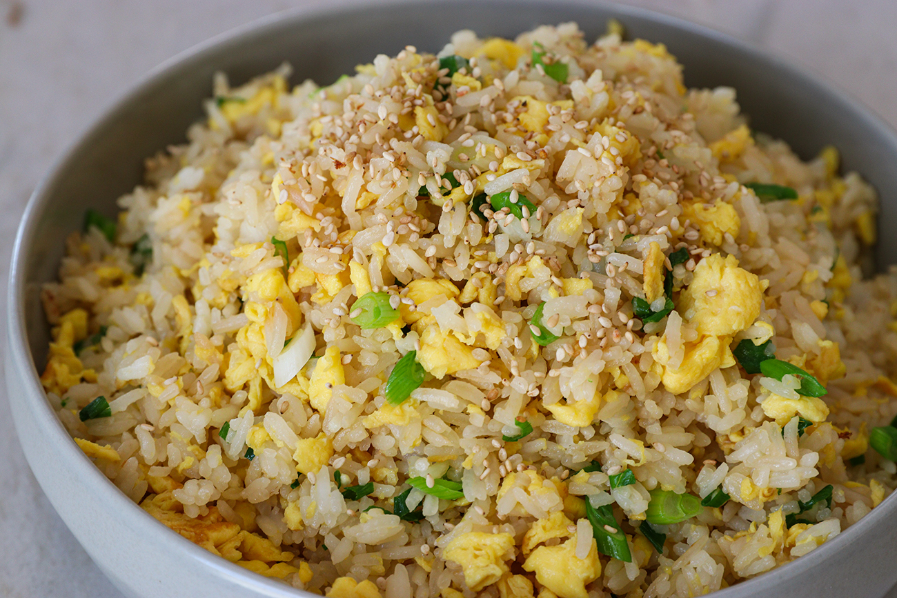 5 Minutes Easy Egg Fried Rice Recipe Video Seonkyoung Longest
