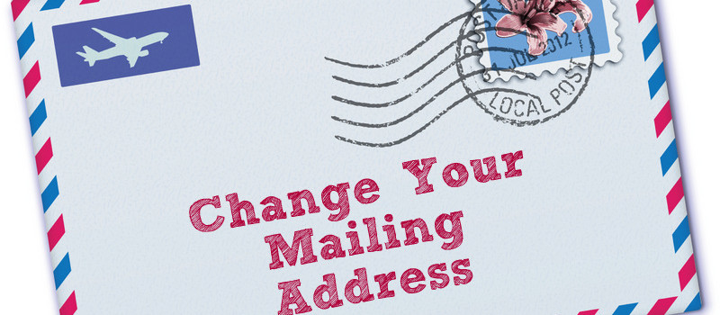 Official Postal Service Change Address Postcard