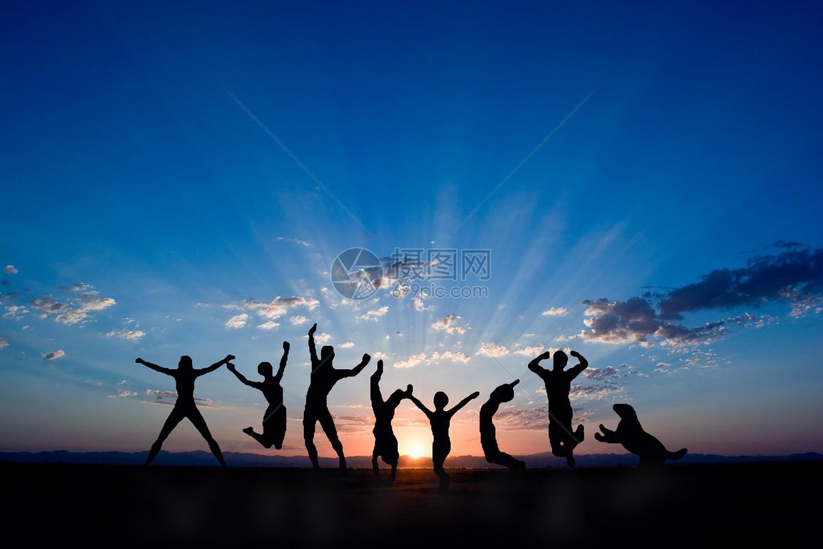 歡呼勝利背影圖片素材-正版創意圖片500908277-攝圖網