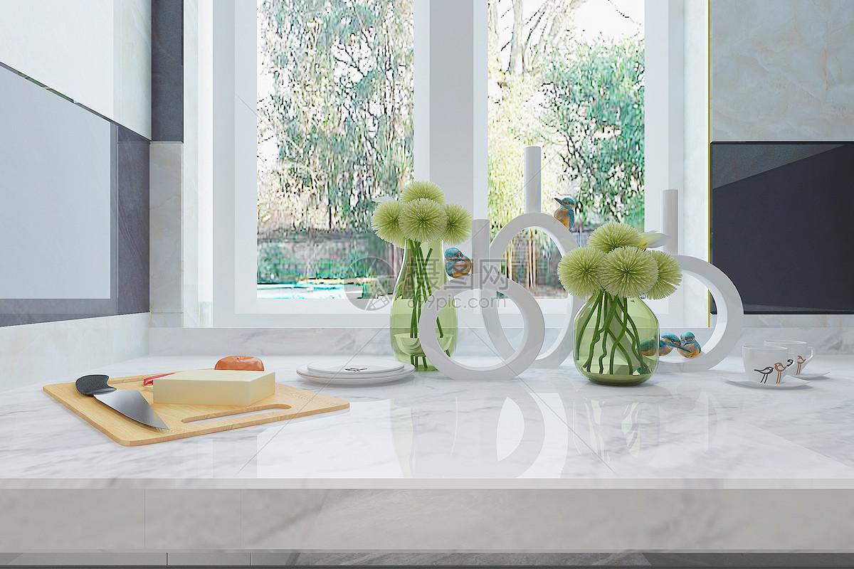 kitchen counter tops low profile faucet 现代厨房台面图片素材 免费下载 jpg图片格式 vrf高清图片500938238 摄图网 现代厨房台面