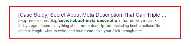 Your meta description might be picked up by search engines to be displayed as search snippet.