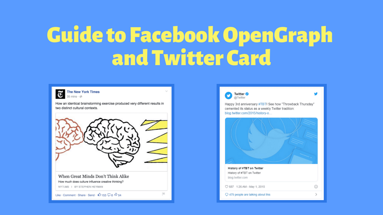 facebook opengraph and twitter card