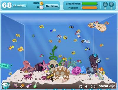 Facebook Фейсбук игра - Happy Aquarium