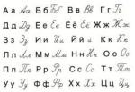 Българска азбука - кирилица