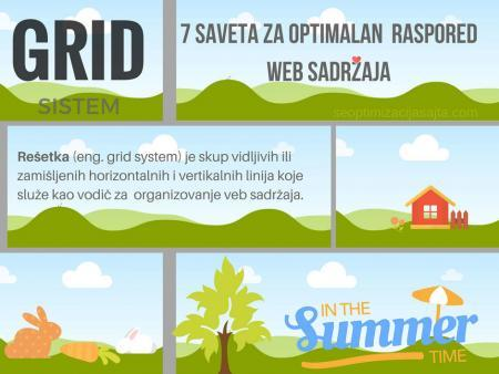 optimalan raspored elemenata na web stranici - GRID sistem
