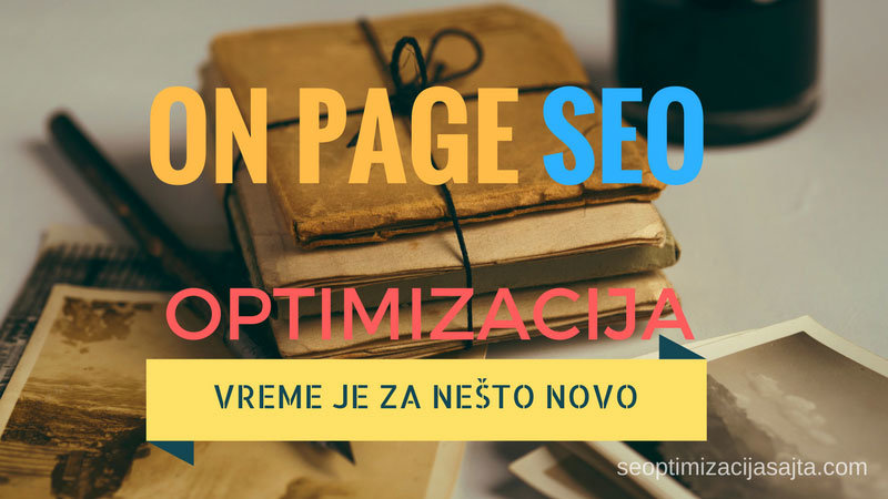 on page seo optimizacija sajta