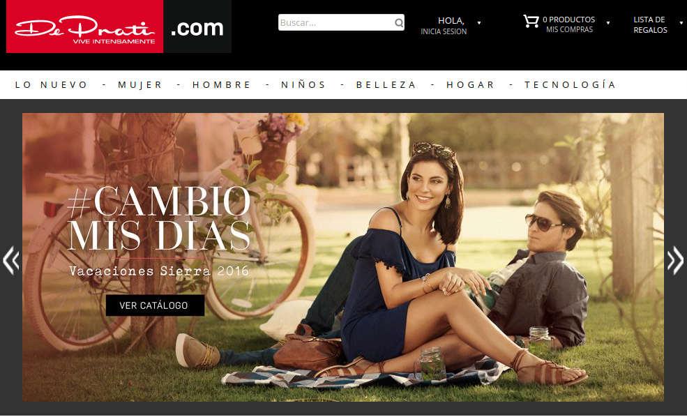Tienda en línea en el Ecuador: ejemplo DePrati.
