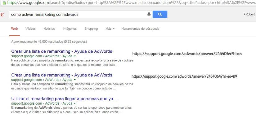 Resultados duplicados en Google