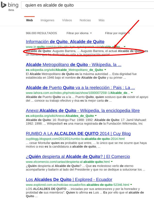 Resultados de búsqueda de Bing