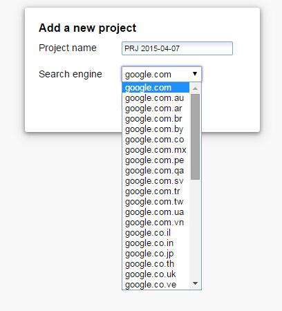 Elegir versión regional de Google con SEO SERP Workbench
