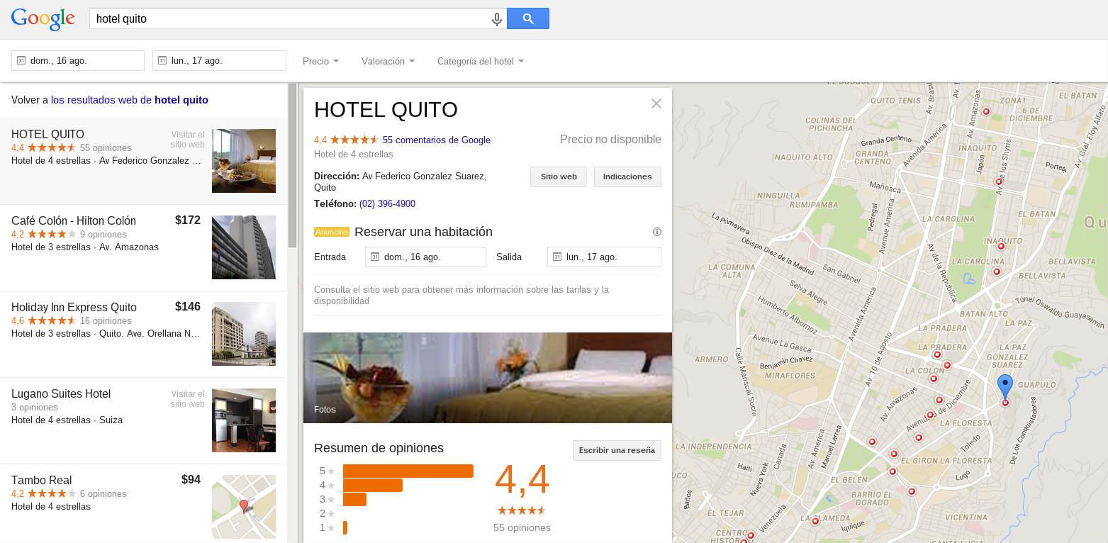 Nueva página de Google para presentar los negocios locales.