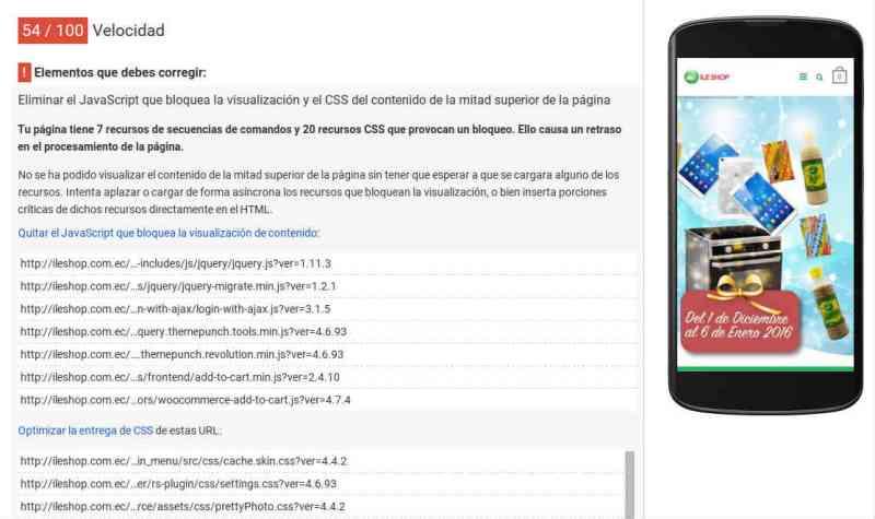 JavaScript y CSS que bloquean la visualización de la mitad superior de una página web, ejemplo http://www.ileshop.com.ec/.