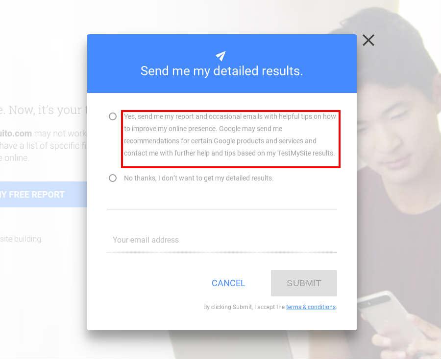Recibe los resultados de la nueva herramienta de Google por email.