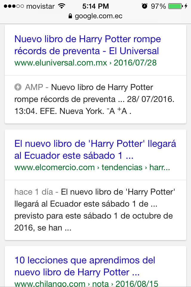 Accelerated Mobile Pages in google.com.ec.
