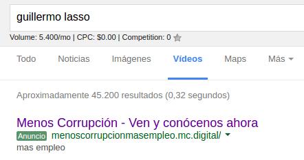 Adwords para Guillermo Lasso.