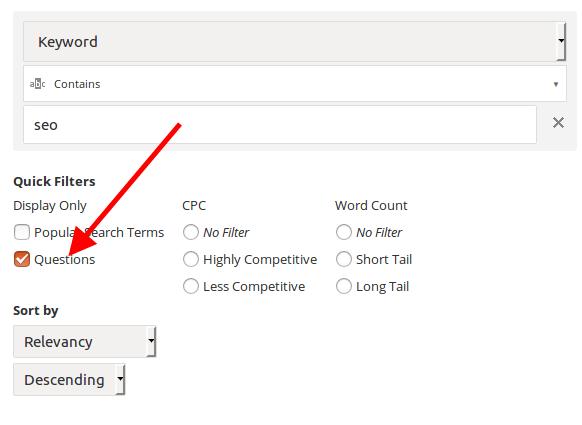 Rank Ranger Keyword Finder