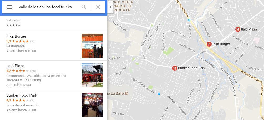 Plazas gastronómicas en el Valle de los Chillos.