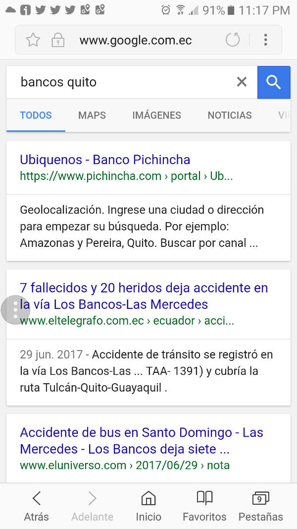 Resultados por Bancos Quito.