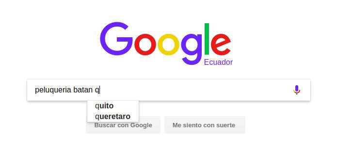 Autocompletar de Google.