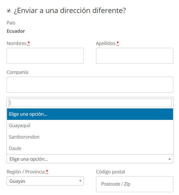 Supermercados online en el Ecuador hacen enviós locales.