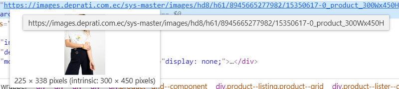 URLs de las imágenes en el sitio nuevo.