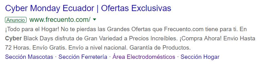 Google Ads de Frecuento.