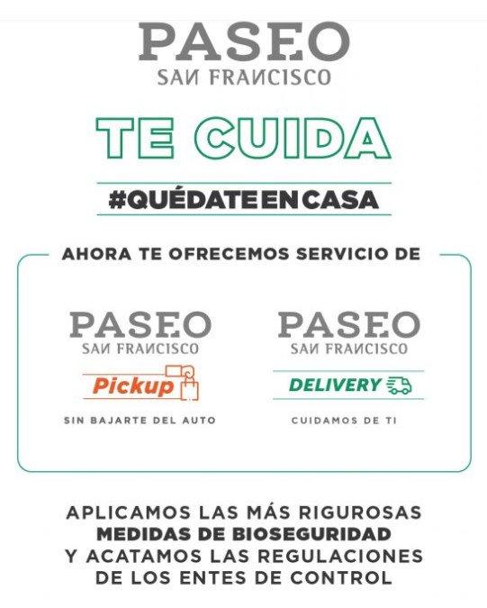 Información sobre compras online en el Paseo San Francisco.