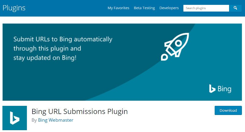 Bing Wordpress Plugin.