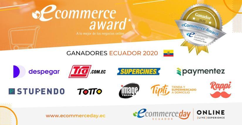Ganadores eCommerce Awards Ecuador 2020.