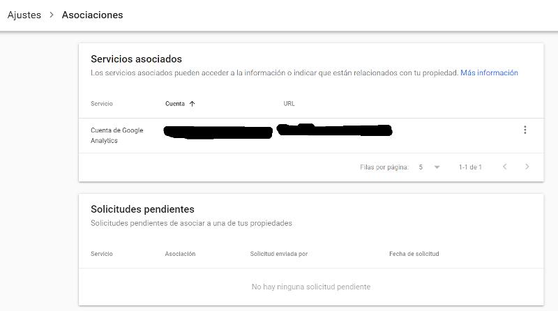 Asocial Search Console con otros servicios de Google.