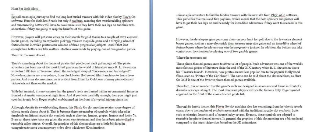 Пример рерайта текста на английском языке по игровой тематике