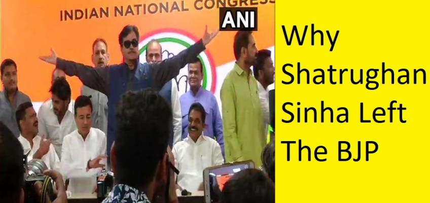 shatrughan sinha left BJP & Join Congress