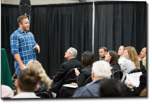Jason Berkowitz speaking at Small Business Expo