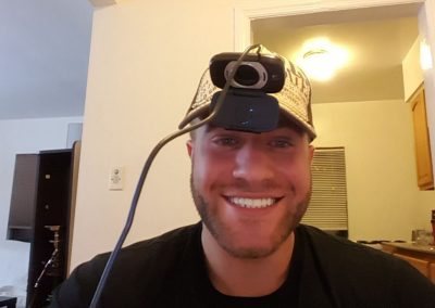 SEO specialists with weird DIY camera on his head-min