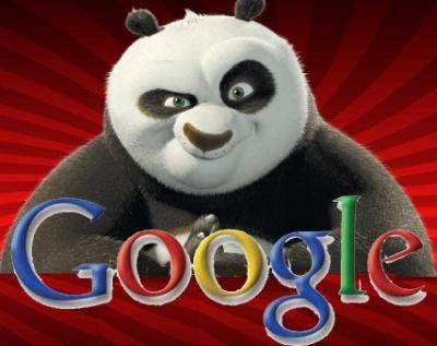 google logo with panda