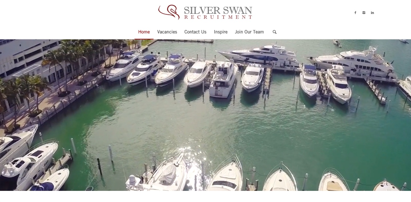 Silver Swan Home Page Screenshot