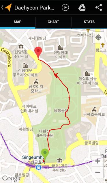 Daehyeonsan (22:21, 0.79 km)