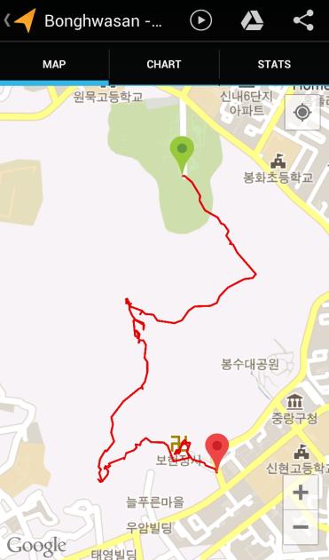 Bonghwasan (1:55:29, 2.85 km)