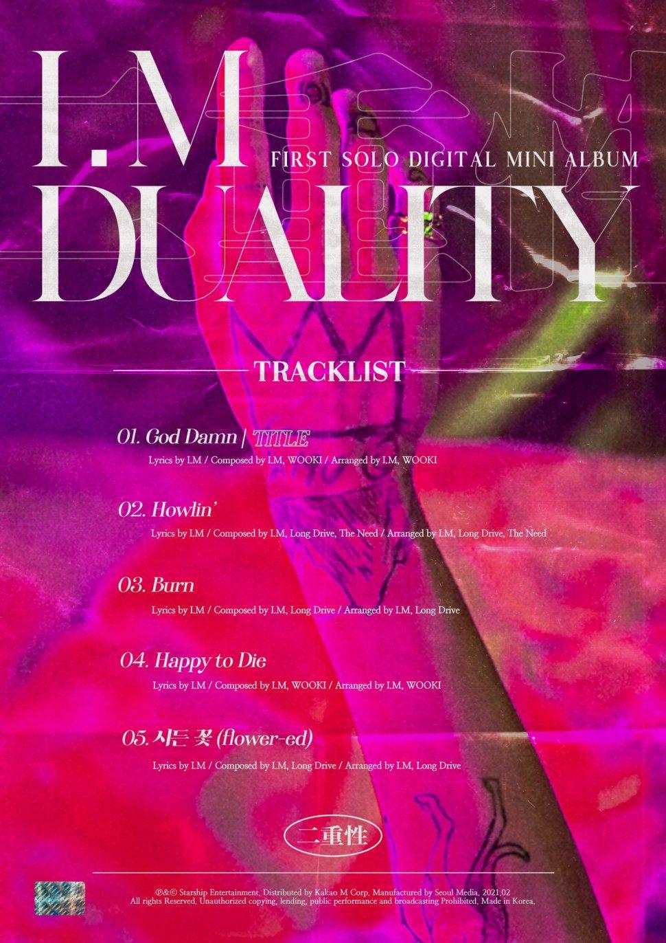 DUALITY Track List