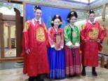 Missionaries in Korean traditional garb