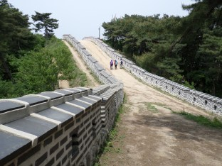 Walking along the fortress