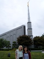 Sis. K and I at the temple