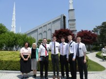 Our district/missionaries serving in Yeoungpo at the temple