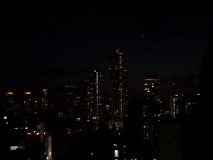 view from apt at night