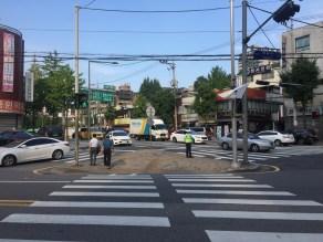 Crossing Yeonhui-ro