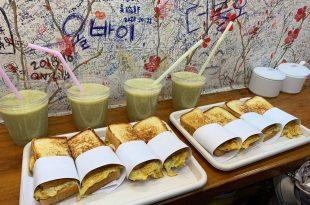 釜山。札嘎其站   新昌烤麵包 (신창토스토)~國際市場裡的樸實烤土司