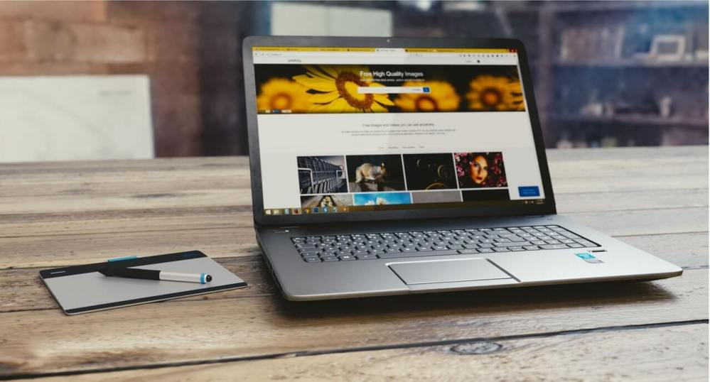 laptop showing design and copywriting on a website