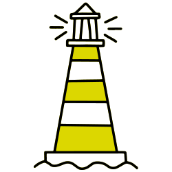 seo writer lighthouse logo