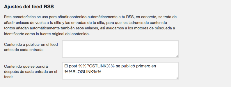 pie de tu feed RSS